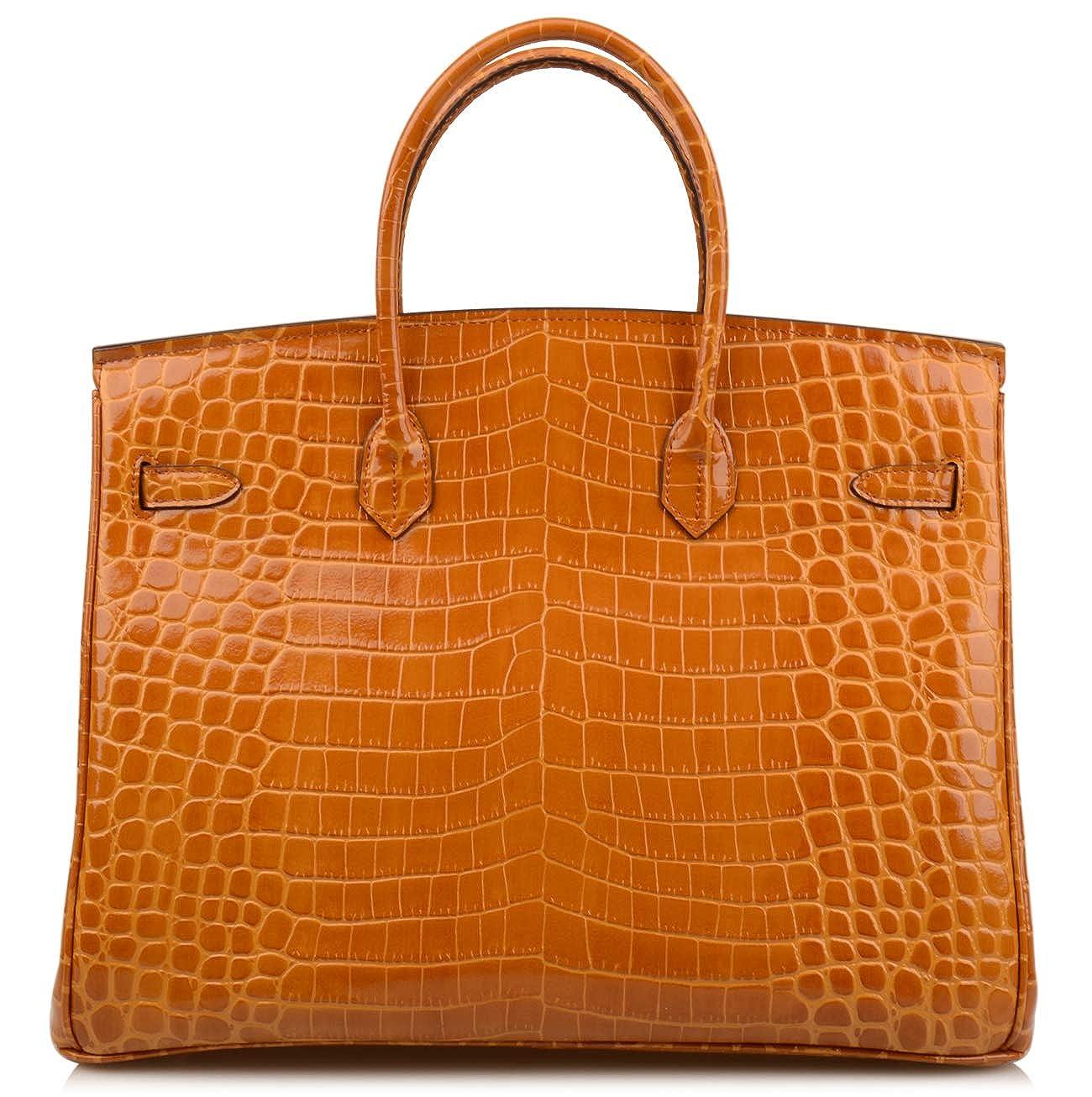 3d680bbd93d Amazon.com  NEW ARRIVAL Ainifeel 40cm Oversized Patent Leather Padlock  Handbag laptop purse Business Handbags (40cm OVERSIZE