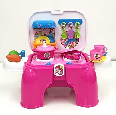 skp deao kit de cocina para nios taburete maletn portable amazones juguetes y juegos
