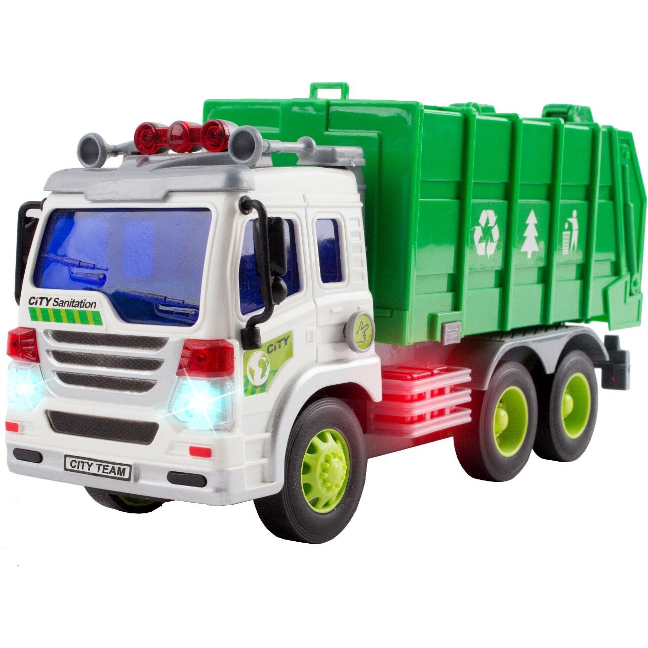 Friction Powered Pull Back Vehicles Car Garbage Truck Toy - Kids Toys