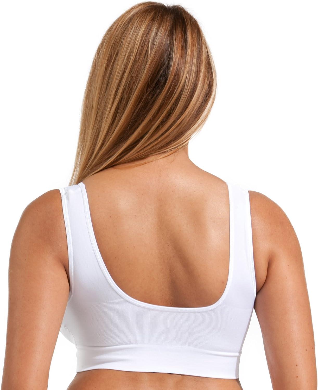 Comfort Bra Sizes Upto 5XL! Vest Wireless Sleep Wide Straps Marielle 3-Pack Premium Comfort Bra Sizes S-5XL Seamless