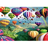 DIY 5D Diamond Painting by Number Kits, Full Drill Crystal Rhinestone Embroidery Pictures Arts Craft for Home Wall Decor Gift,Air Balloon in The Sky