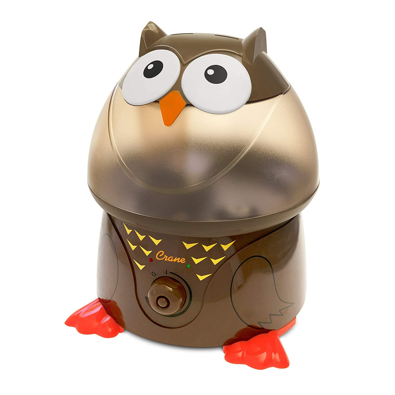 Crane USA Humidifiers Owl Adorable Ultrasonic Cool Mist Humidifier 1 Gallon Adjustable Mist Output, Automatic Shut off, Whisper Quiet Operation