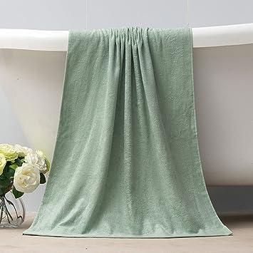 Toallas CHENGYI baño absorbentes Suaves del Hotel baño del algodón casero Adulto 138 * 68CM (Color : Green): Amazon.es: Hogar
