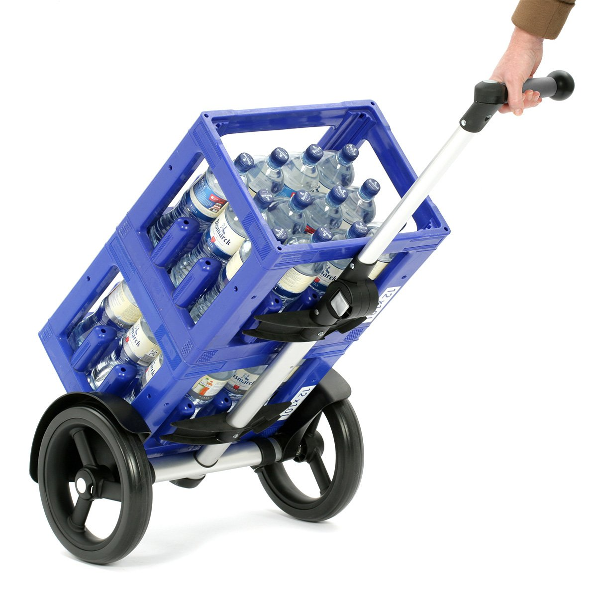 Andersen Shopper Tura mit kugelgelagertem Rad 29 cm und Tasche Ortlieb 49 Liter schwarz