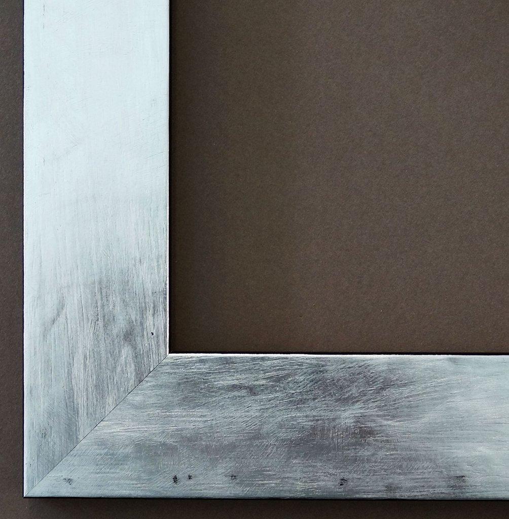 Bilderrahmen Lecce Silber 3,9 - Über 14000 Größen - 80 x 60 cm - mit Normalglas - Maßanfertigung ohne Aufpreis