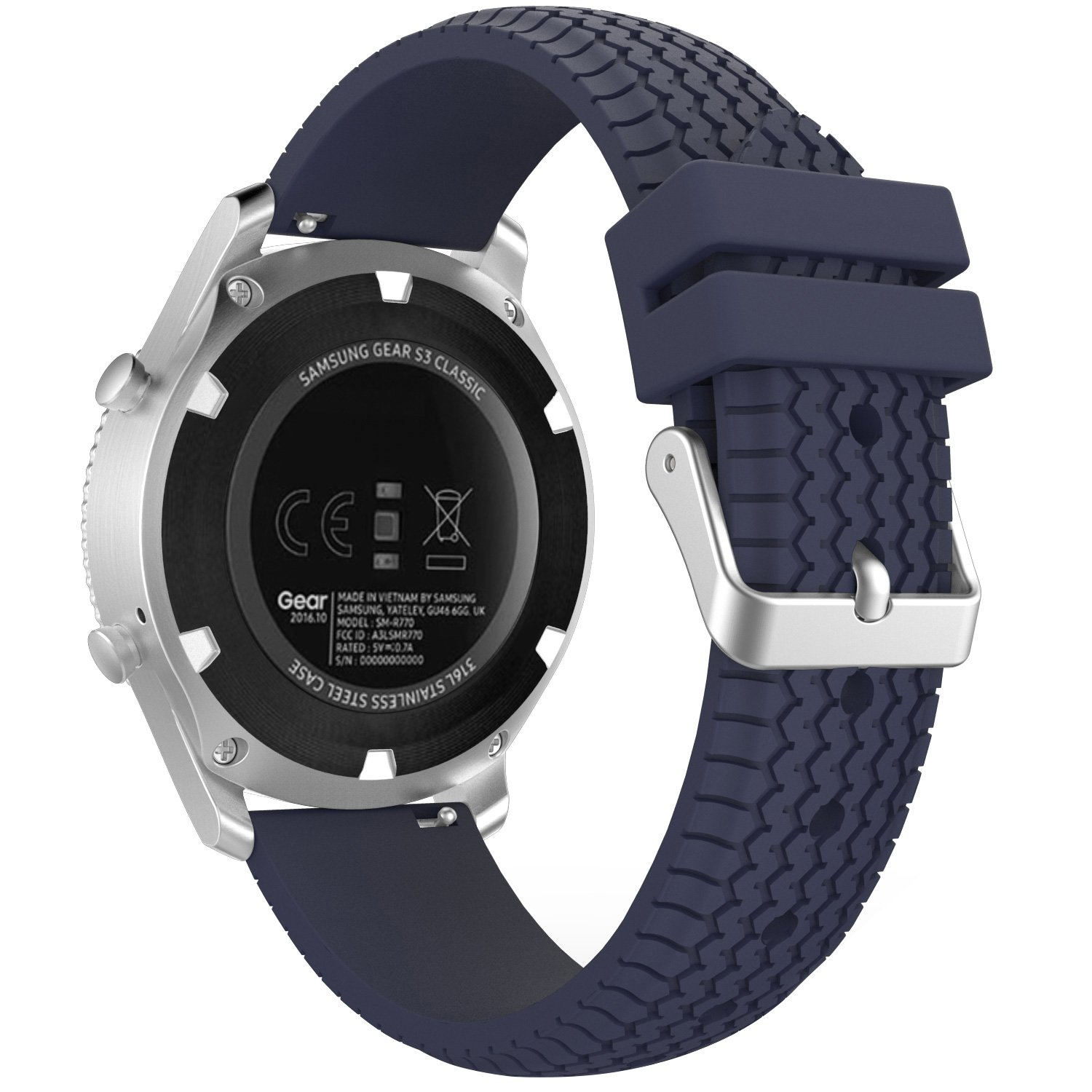 MoKo Band Compatible with Samsung Gear S3 Frontier/Classic/Galaxy Watch 46mm/Ticwatch S2/E2/pro/Huawei Watch GT 46mm, 22mm Silicone Replacement Sport ...