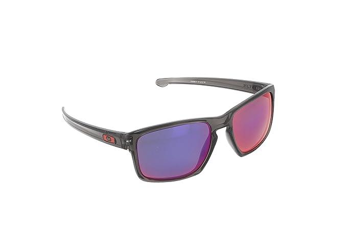 18aa022a7b0 Amazon.com  Oakley Men s Sliver Grey Smoke Red Iridium Polarized Sunglasses   Clothing