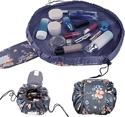 Lazy Makeup Toiletry Bag Lazy Cosmetic Bag Large Capacity Drawstring Makeup Pouch Travel Storage Organizer Quick Pack Magic Makeup Bag for Women