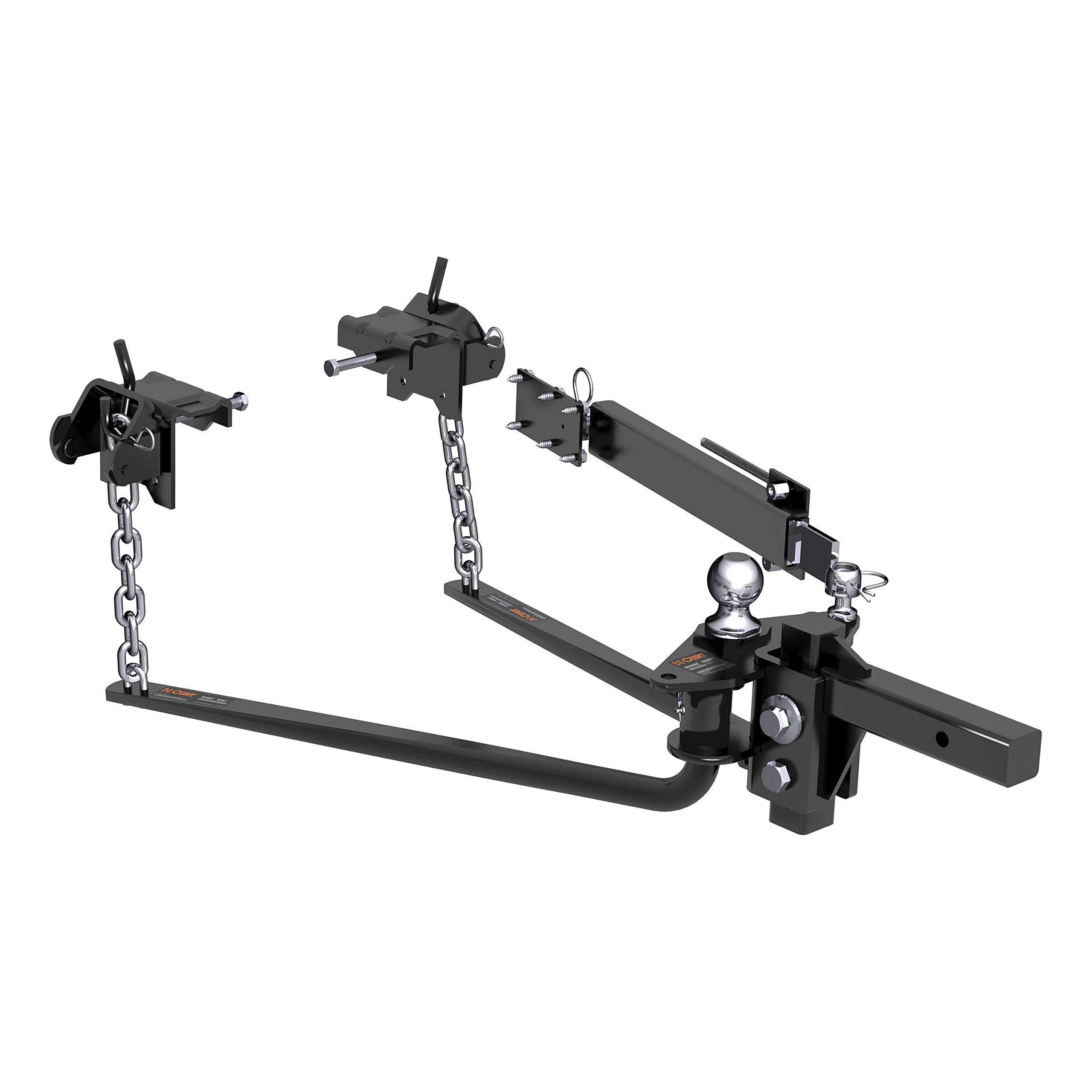 CURT 17063 MV Black Round Bar Weight Distribution Hitch with Sway Control Kit (14,000 lbs. GTW, 2'' Shank, 2-5/16'' Ball) by CURT (Image #1)