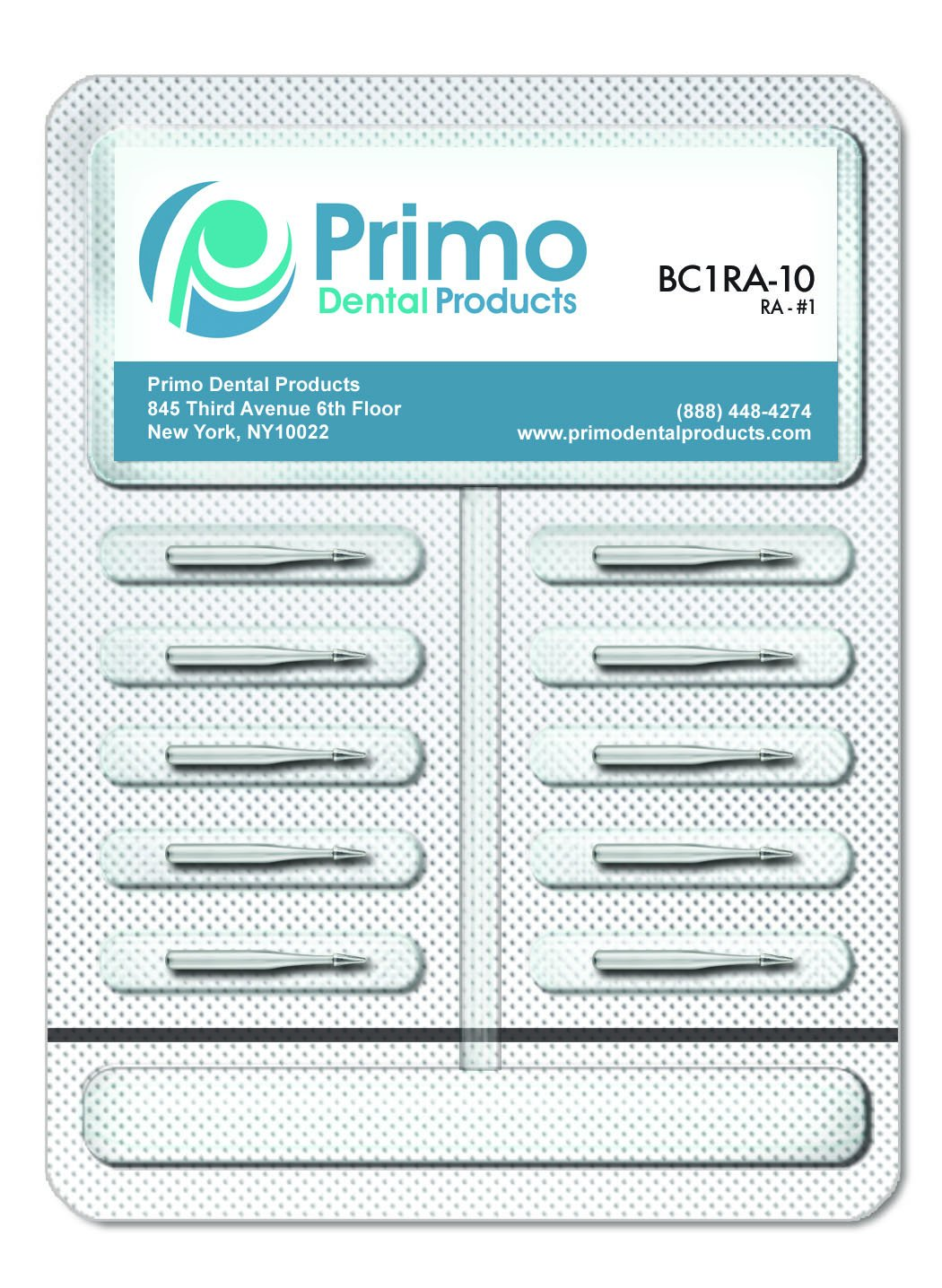 Primo Dental Products BC957FG10 Carbide Burs, 957 FG (Pack of 10)