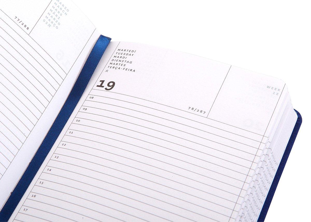 Agenda diaria de 18 meses, tamaño pequeño, 11 x 16,5 cm ...