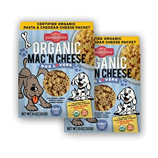 Pastabilities Organic Kids Dog Lovers Shaped Mac 'n Cheese, Fun Puppy Pasta Noodles for Pet Lovers & Gifts with Cheddar Cheese Powder, Non-GMO Wheat Pasta (10 oz, 2 Pack)