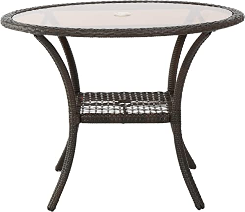 Christopher Knight Home San Pico Wicker Glass Table Review
