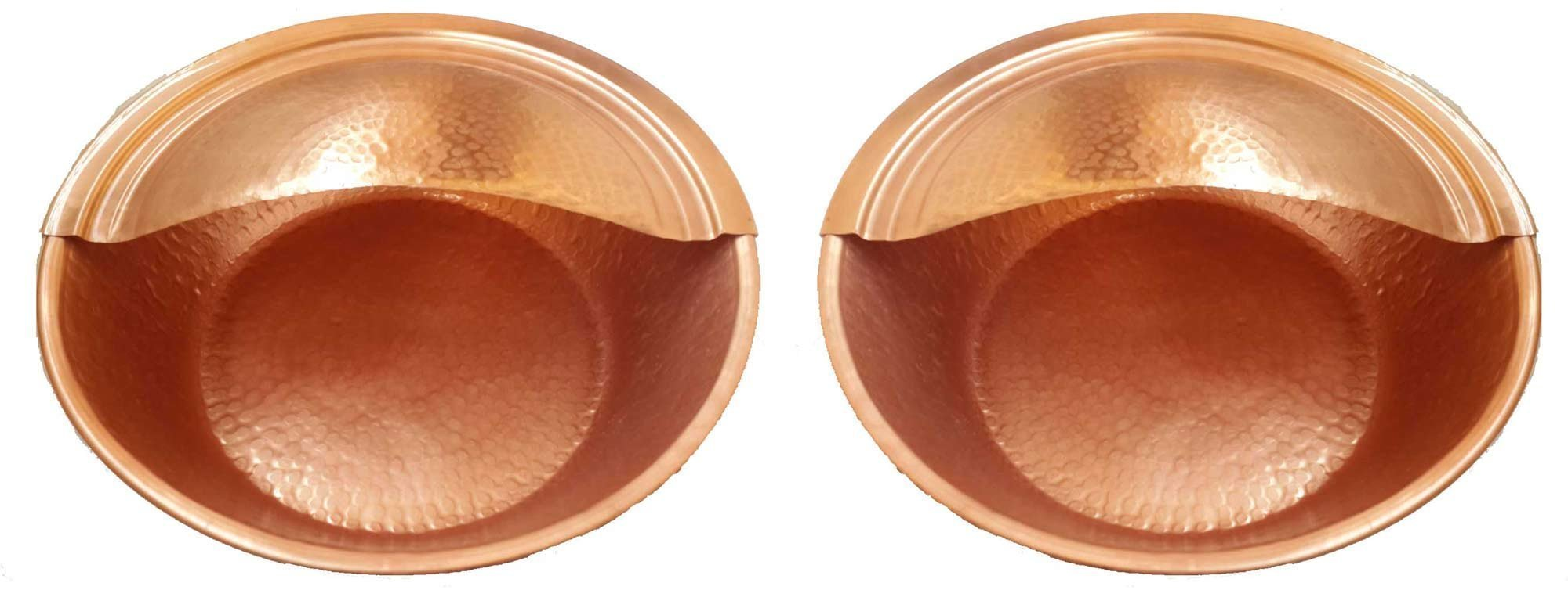 Egypt gift shops Pair Copper Foot Leg Fitness Care Therapy Massaging Pedicure Bowls Hot Warm Water DIY Soaking Soothing Basins