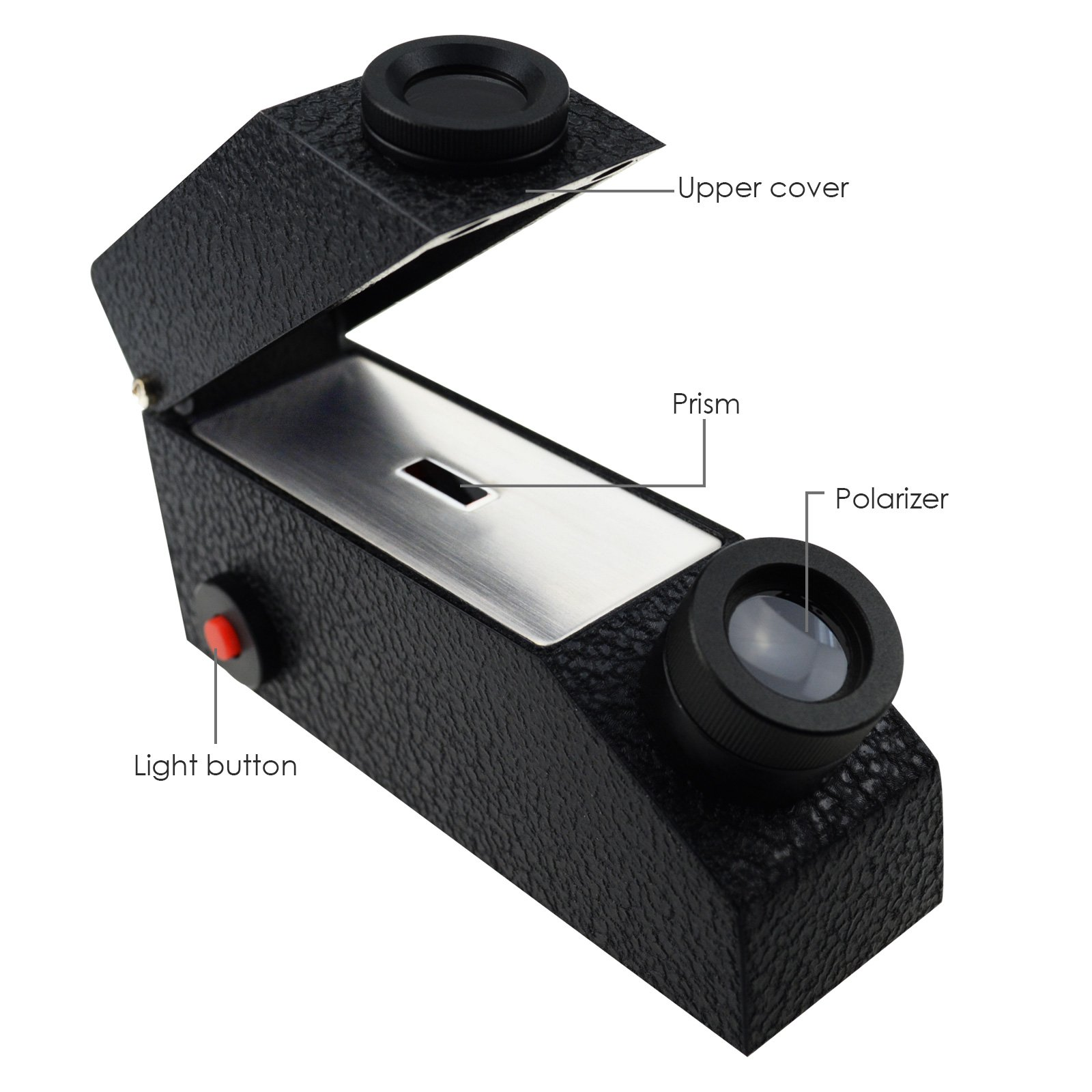 Gain Express Gem Gemological Gemelogy Refractometer with Built-in LED Light + RI Oil + 1.30-1.81 RI Range + 0.01 nD Scale Division by Gain Express (Image #4)