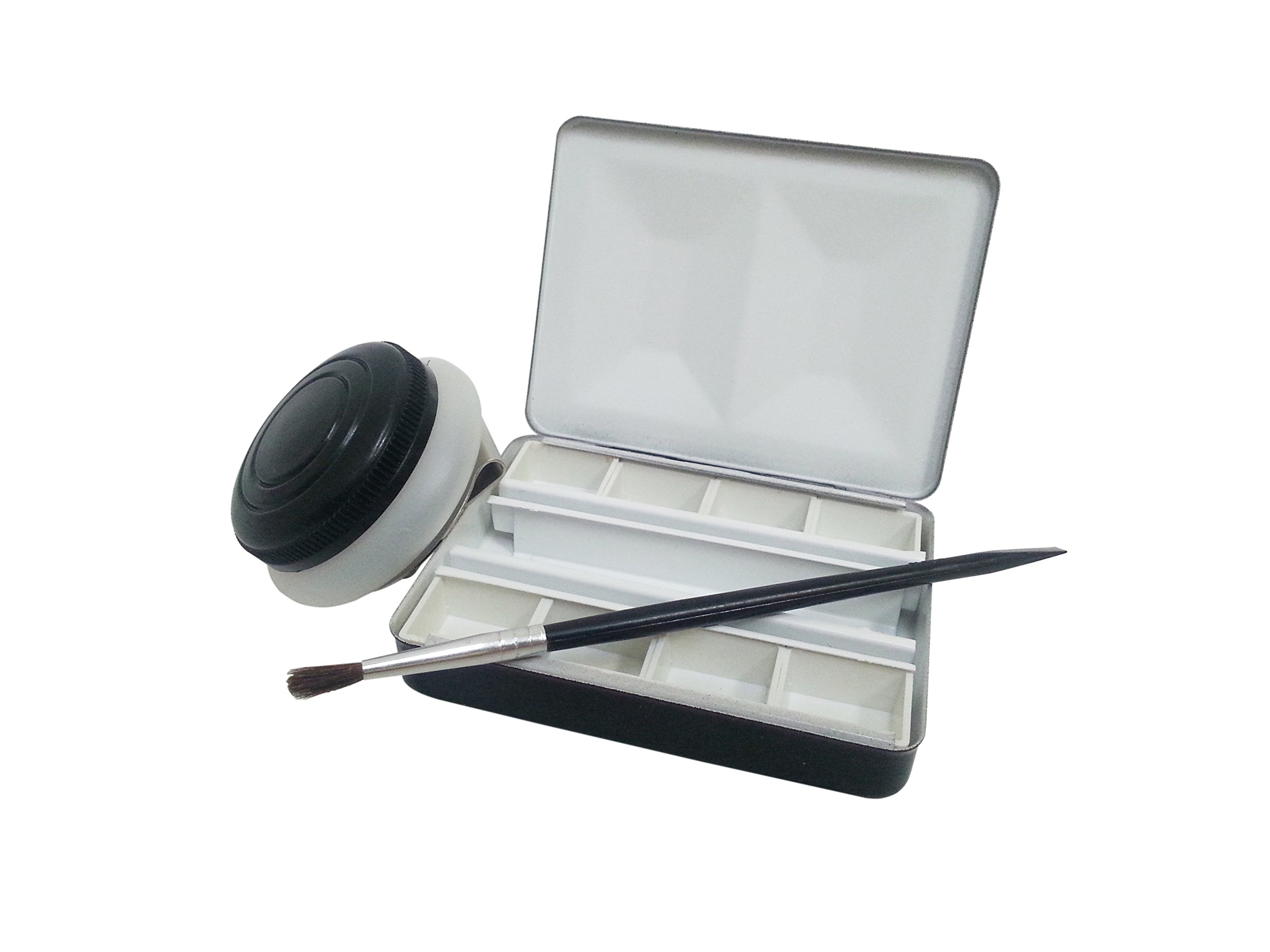 Whiskey Painters Empty Professional Artist Customizable, Perfect Travel Friendly, 8 Pan Watercolor Pocket Size Artist Palette (Brush & Cup sold separately)