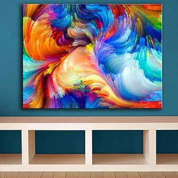 Enormi Dimensioni Arcobaleno Il Modello Di Sfocatura Del Colore Pittura Murale Per Idee Di Decorazioni Per La Casa Stampa Su Tela Pittura A Olio Senza Cornice Soggiorno 60x90cm Amazon It Fai Da Te