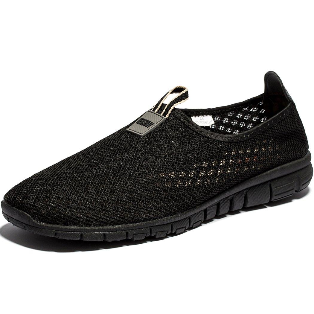 Men & Women Breathable Mesh Running Sport Tennis Outdoor Shoes,Beach Aqua,Athletic,Exercise,Slip Wave EU41 Allblack