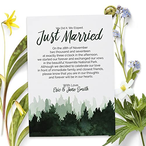 Amazoncom Elopement Wedding Announcement Cards Custom and