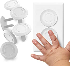 Tiny Patrol Outlet Covers Babyproofing, Electric Plug Protectors, Childproof Socket Covers for Home and Office Protect Toddlers and Babies 15 Count