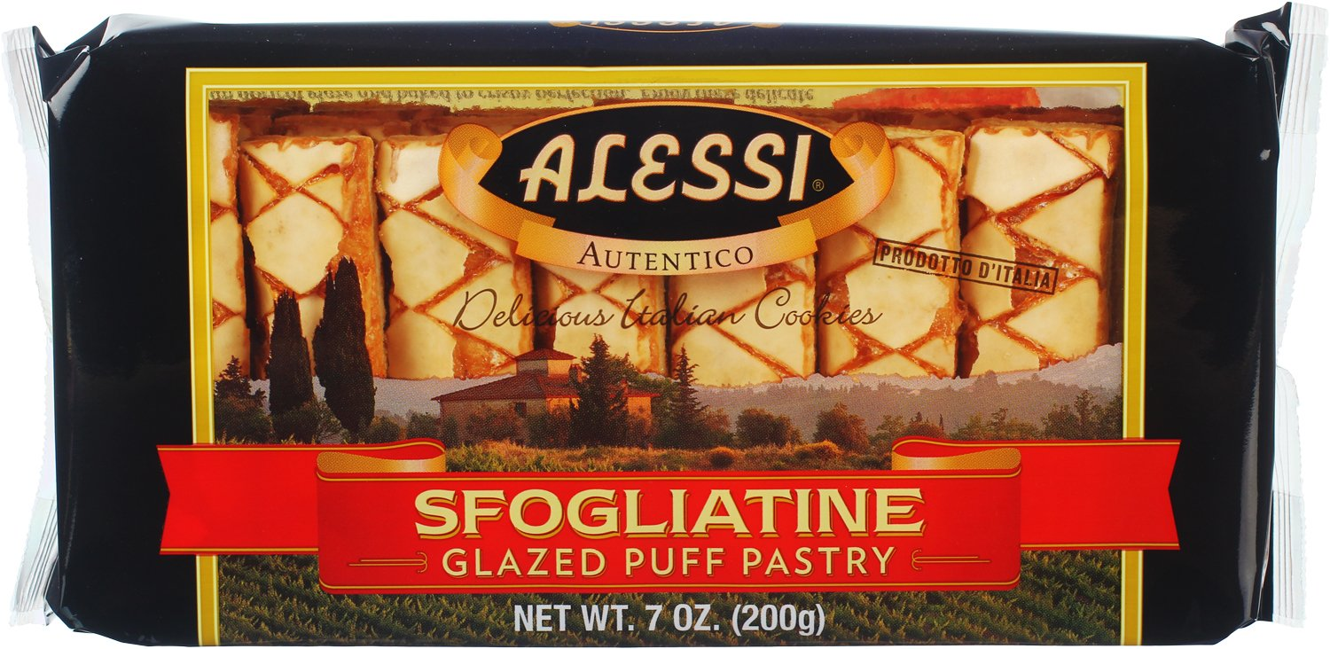 Alessi Sfogliatine Glazed Puff Pastry, 7 Ounce (Pack of 12)