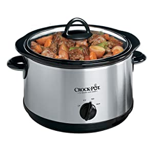 Crock-pot 5 Qt Manual Slow Cooker, Stainless Steel by Classic