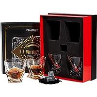 Finether Vasos de Whisky con Cubos de Hielo
