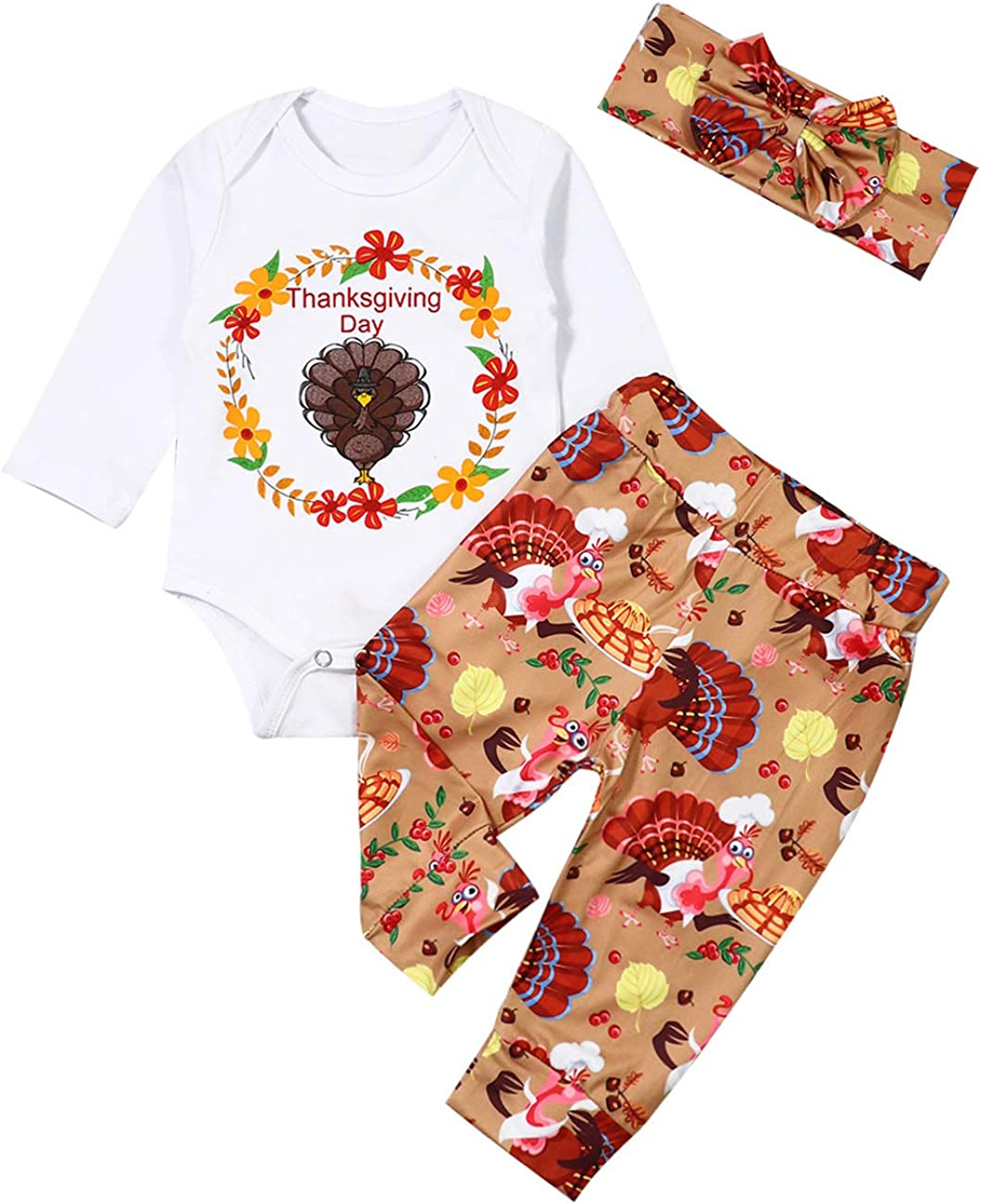 Tesa Babe Baby Thanksgiving Day Outfit My First Thanksgiving Bodysuits Rompers Jumpsuit for Baby Girls and Boys