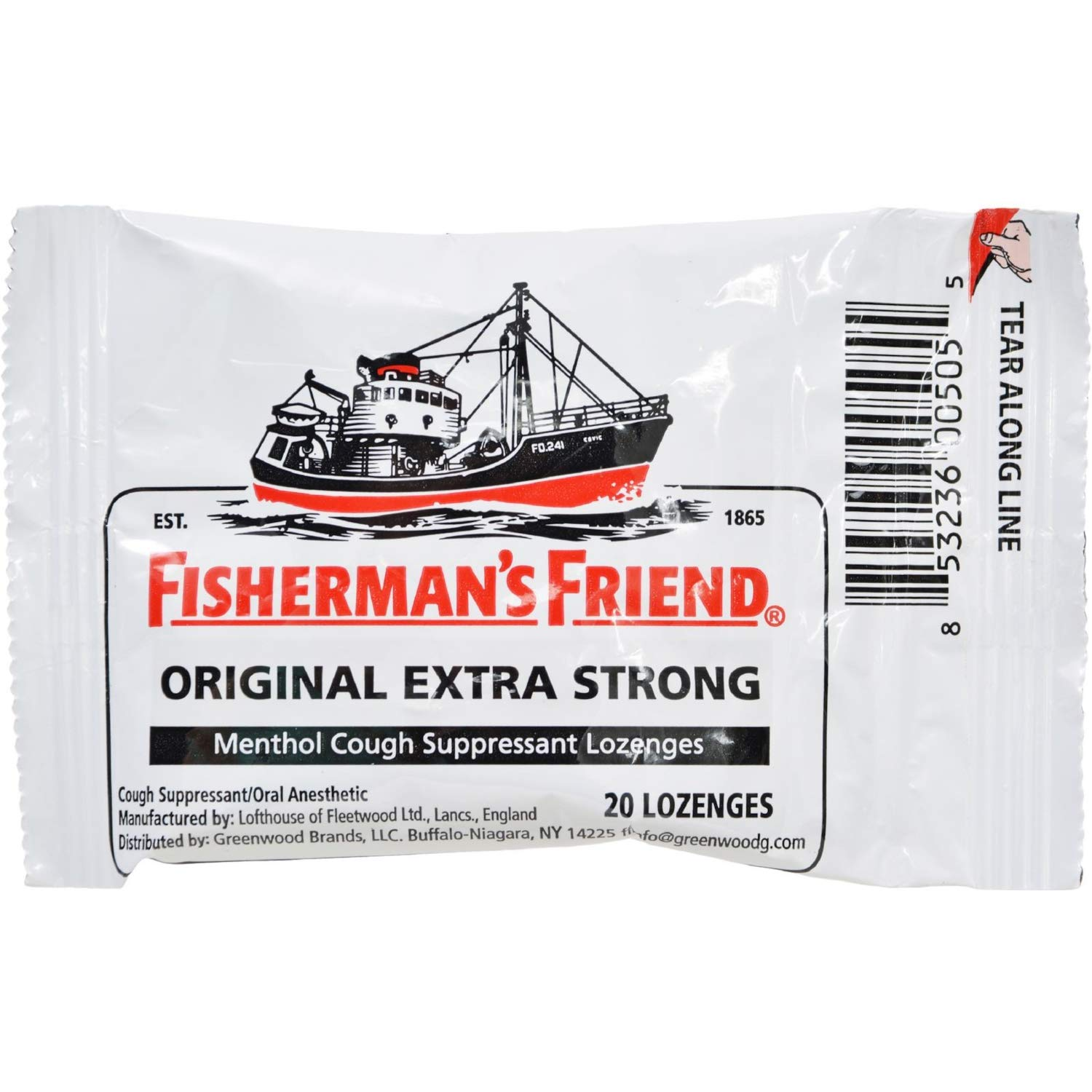 Fisherman's Friend Lozenges Original Extra Strong 20 Each (Pack of 6)
