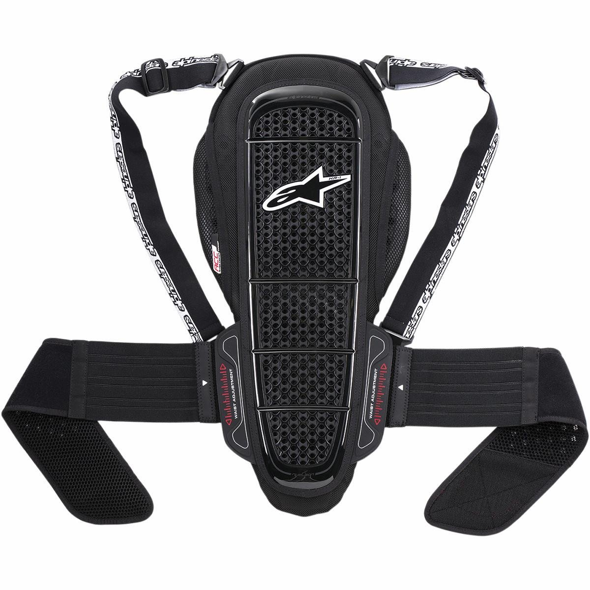 Alpinestars Nucleon KR-1 Motorcycle Back Protector Road Armour-Black.White 18051194721341