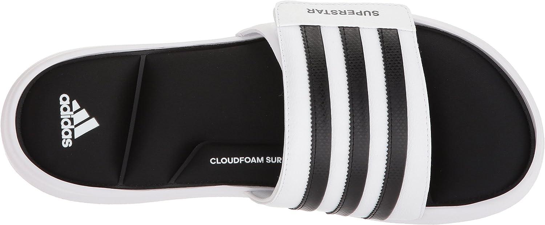 con tiempo Lluvioso tenga en cuenta  Amazon.com: adidas Originals Superstar Slide Sandalias para hombre,  blanco/Core negro/blanco, 6: Shoes