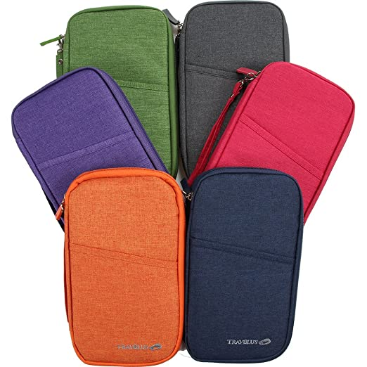 35d373c60e51 Multi-Functional Fashion Ticket Passport Credit Card ID Document Organizer  Holder Bag Purse Travel Pouch Case Cover