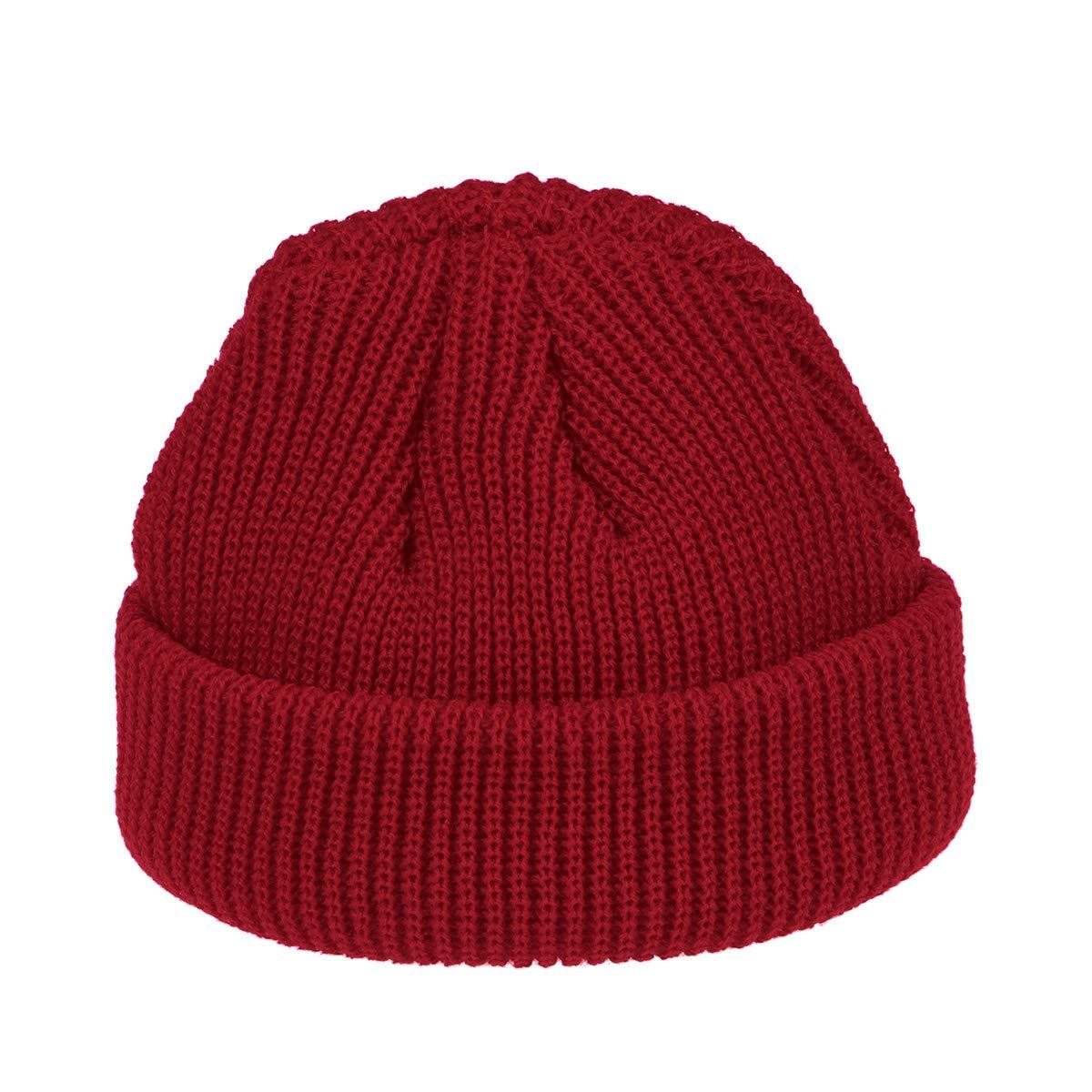LIOOBO Cappello Berretto Invernale da Uomo Cappello Invernale Berretto Caldo da Donna (Rosso)