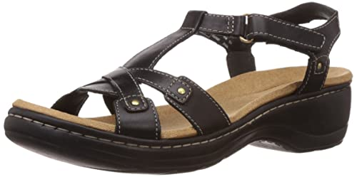 bfae63eddd9 Clarks Women s Hayla Flute Black (Fit D) Leather Fashion Sandals - 6 ...