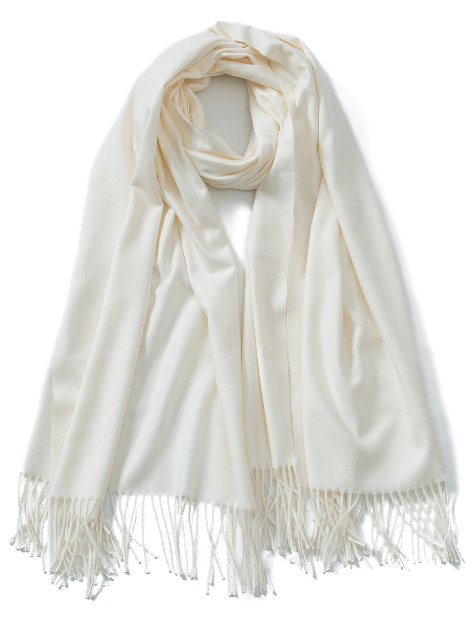 Cindy & Wendy Large Soft Cashmere Feel Pashmina Solid Shawl Wrap Scarf for Women by Cindy and Wendy