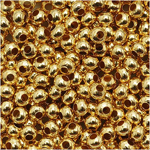 Genuine Metal Seed Beads 8/0 Gold Tone Gilding Metal 38 Grams