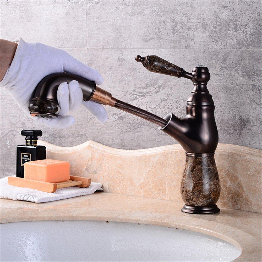 Continental Jade retro - Kupfer warmes und kaltes Shampoo ausziehbare Sitzbank Waschtischmischer E