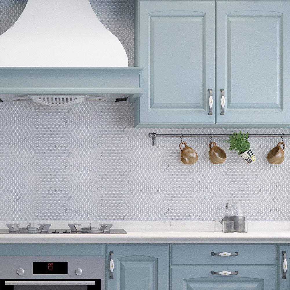 Diflart Carrara White Italian Bianco Carrera 3//4 Marble Penny Round Mosaic Tile Honed 5 Sheets//Box