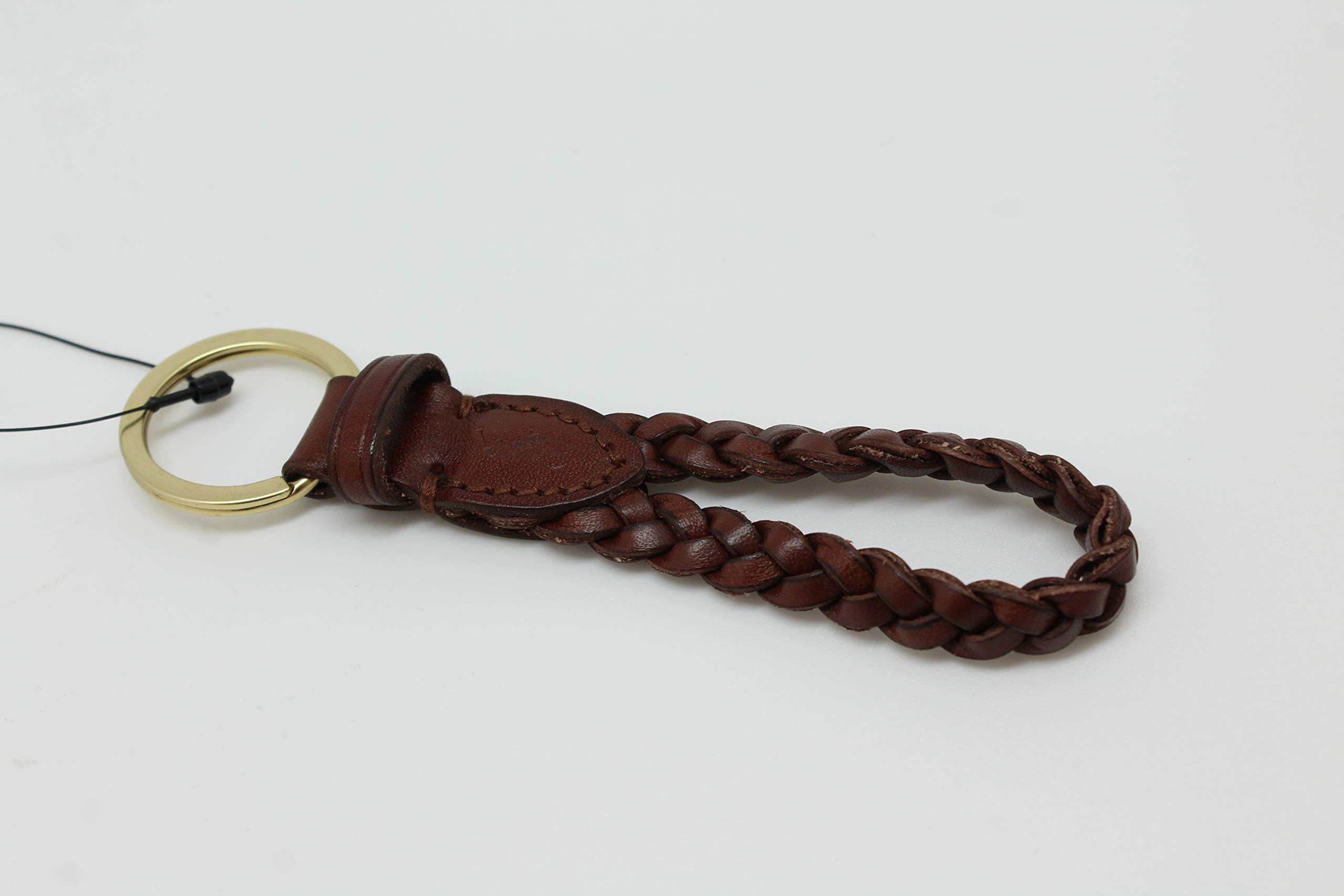 Polo Ralph Lauren Mens Womens Pony Leather Brown Key Ring