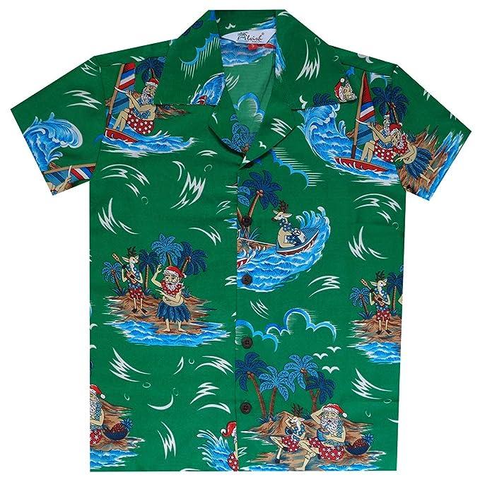 Camisas hawaianas de manga corta para niños con estampado aloha para playa, fiestas, campamentos, vacaciones - Negro - Medium: Amazon.es: Ropa y accesorios