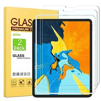 apiker 2 Pezzi Compatibile con iPad PRO 11 Pollici 2018 Vetro Temperato,Pellicola Protettiva-Durezza 9H, Bordi Arrotondati 2.5D,Alta Trasparenza, Anti-Impronte Digitali//Graffi,Nessuna Bolla