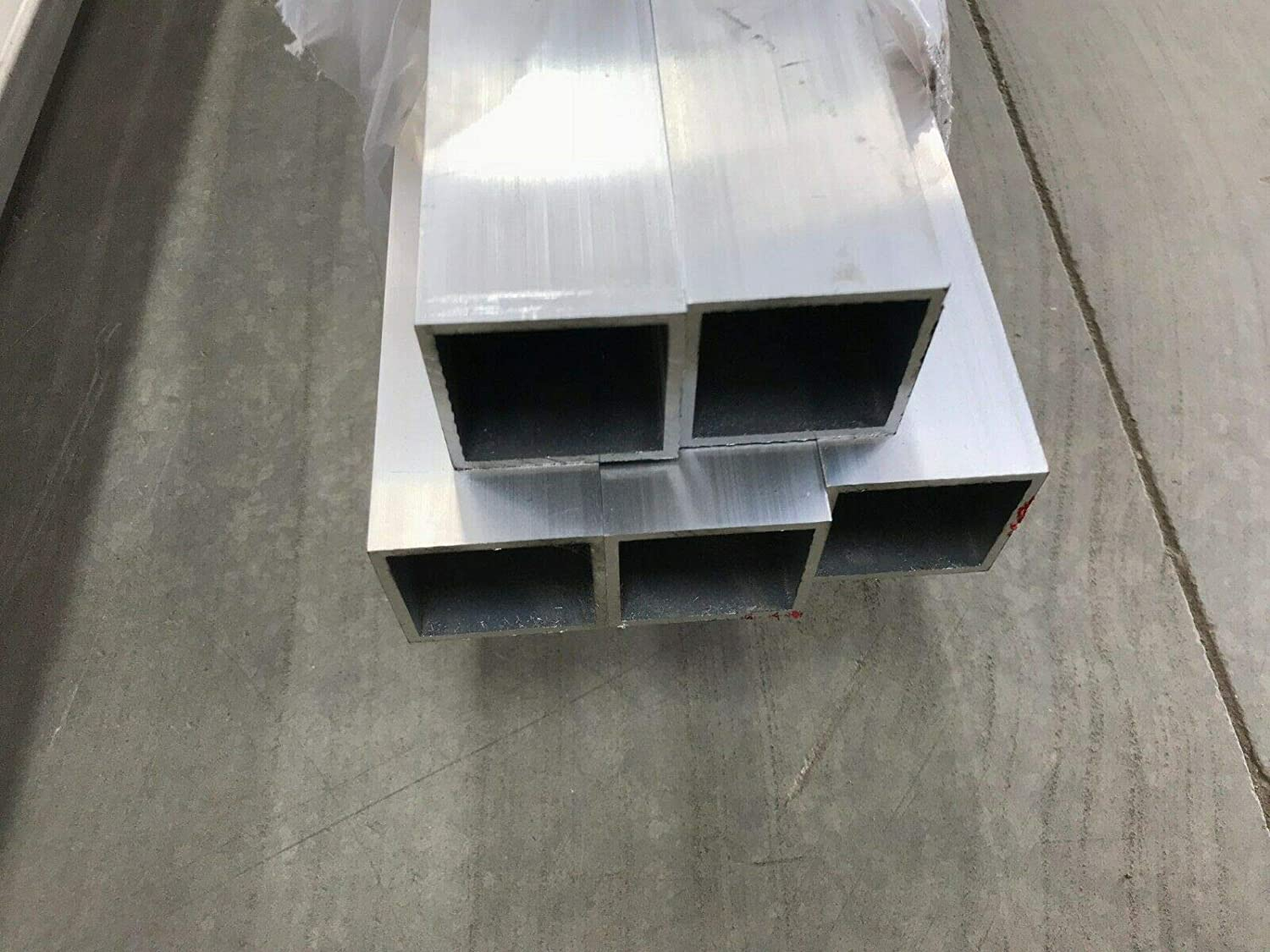 "2/""X 2/"" X 1//4/"" Wall 6061 T6 Aluminum Square Tube 12/"" Piece"