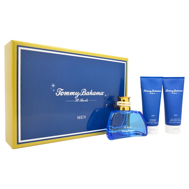 Tommy Bahama St Barts 3 Piece Gift Set (Eau De Cologne Spray 3.4 Oz & Shower Gel 3.4 & After Shave Balm 3.4 Oz) for Men, 3.4 fl. Oz. TBS3M