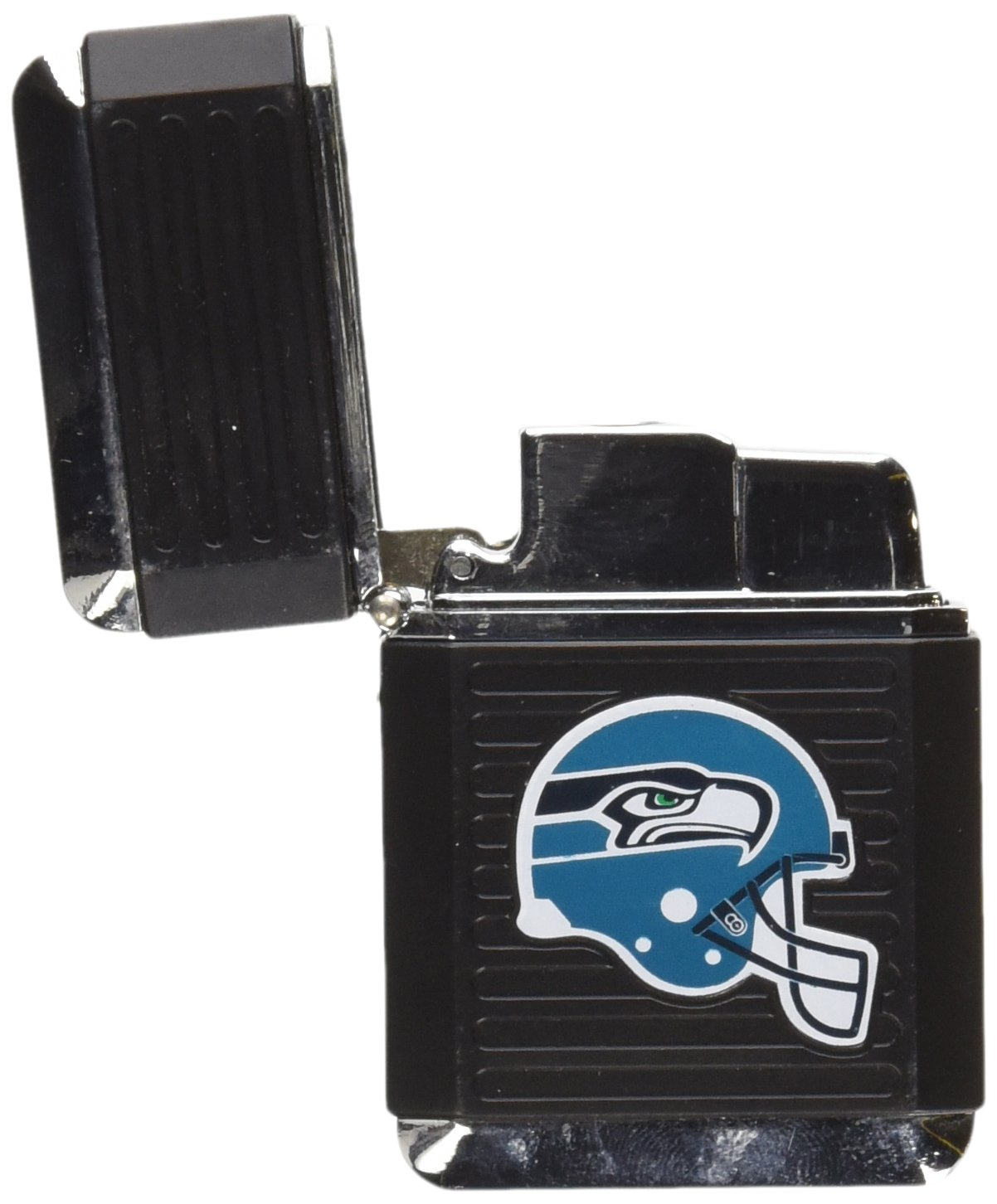 NFL Flip Top Butane Torch Lighter in Tin Collectors Box (Seattle Seahawks) FSO