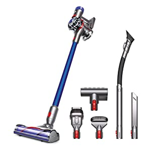 Dyson V7 Animalpro+ Cordless Vacuum Cleaner - Extra Tools for Homes with Pets, HEPA Filter, Rechargeable, Lightweight, Powerful Suction, Blue