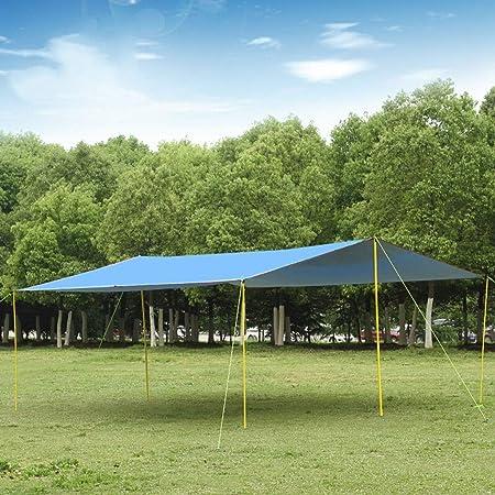 ZYL Lonas FJZ Toldo Camping Oxford Tela Recubierto Plata Sobredimensionado 600 * 800 cm Camping Sombrilla Sombrero para Lluvia (A sin Accesorios, B Tiene Accesorios) toldos para Jardin: Amazon.es: Hogar