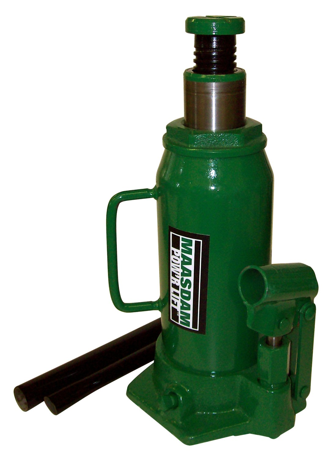 Maasdam MPL12B Bottle Jack, 12 Ton, Green