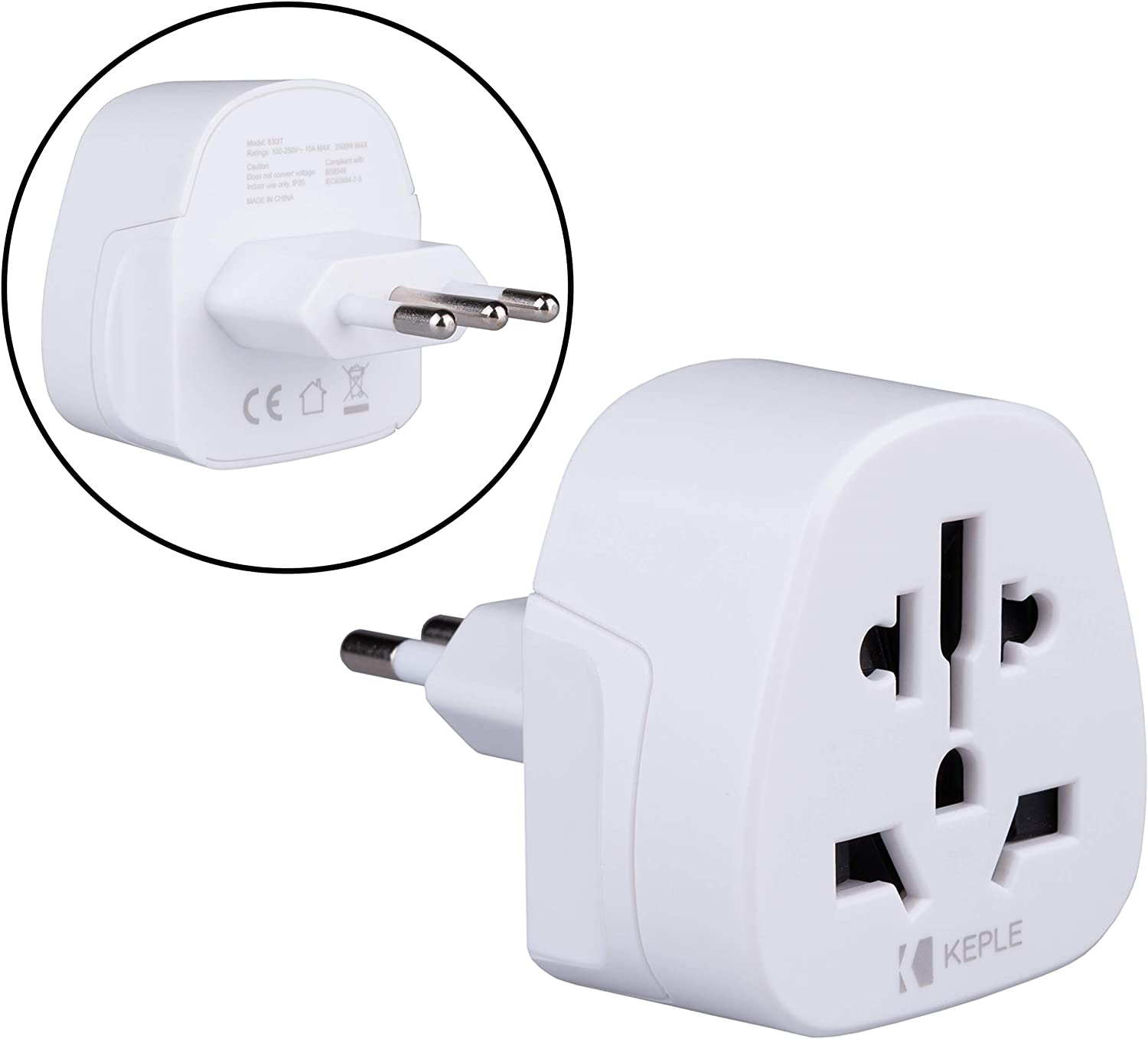 Italien Italy IT Adapter Plug Reise Typ L to zu UK Englisch US USA Amerika Australia Australien EU Europe European Asia Asien China Thailand Stecker Universal Weltweit Steckdose International 3 Pin