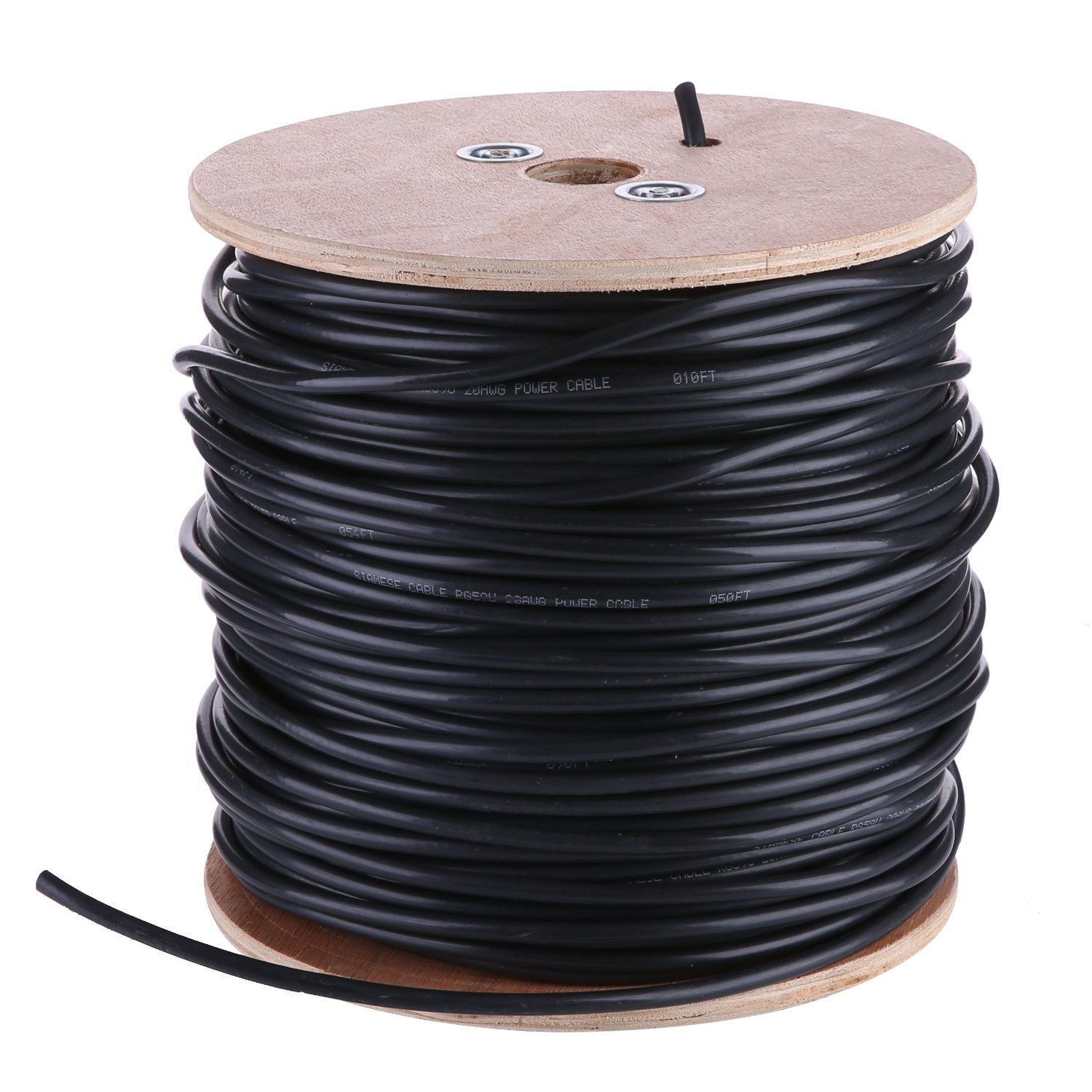 Amazon.com : ANNKE 1000ft RG59 Siamese Coaxial Cable Wire for CCTV Security Camera(Combo Video Only) : Camera & Photo