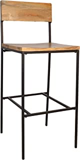 product image for Carolina Chair & Table Durham Bar, 30-Inch Stool, Natural/Black